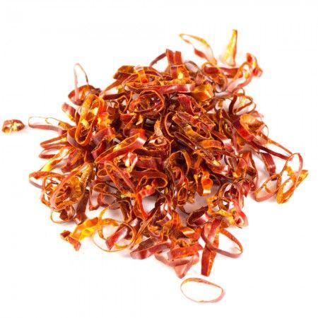 Chiliringe   10g in der Schärfe reduziertes Chili. Zutaten: Chili. Herkunftsland: China. In der Schärfe reduziertes Chili.
