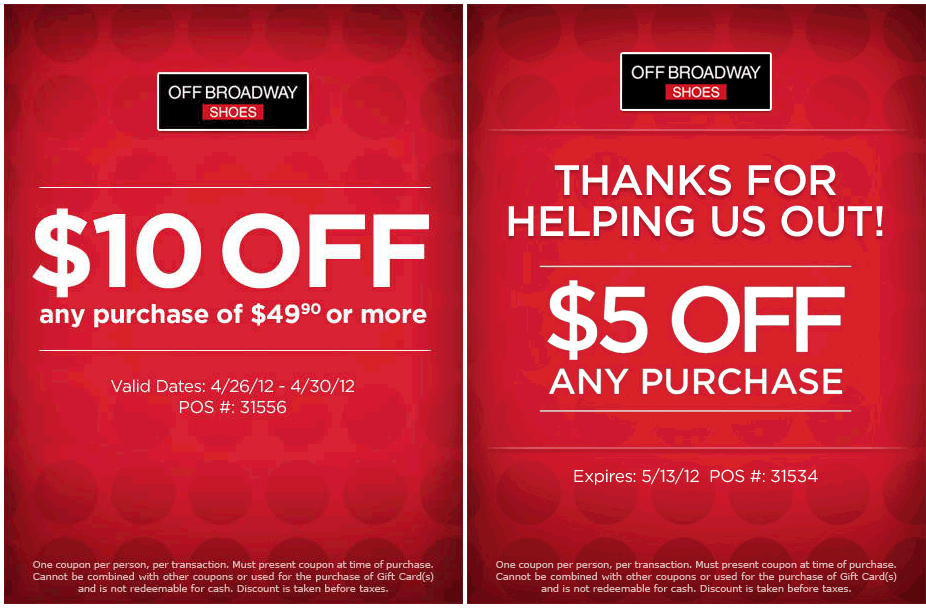 broadway shoes coupons