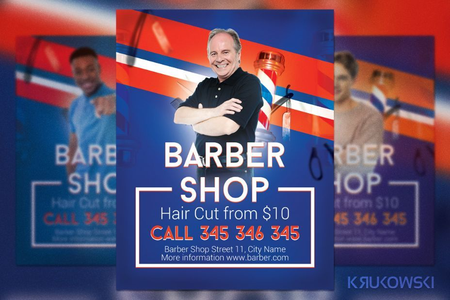 SimpleBarberShopFlyerTemplate   Barber Shop Flyer Template