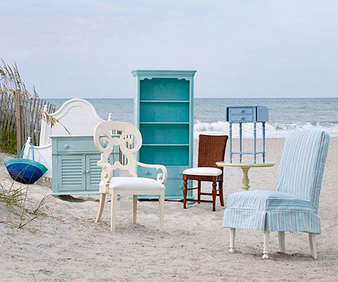 New coastal living line of furnitureLove the colors! houses