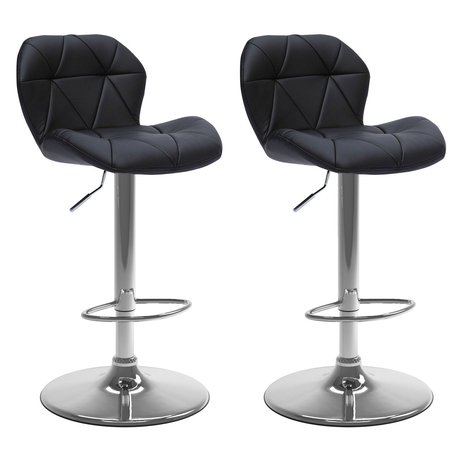 Astonishing Corliving Adjustable Bonded Leather Bar Stool Set Of 2 In Machost Co Dining Chair Design Ideas Machostcouk