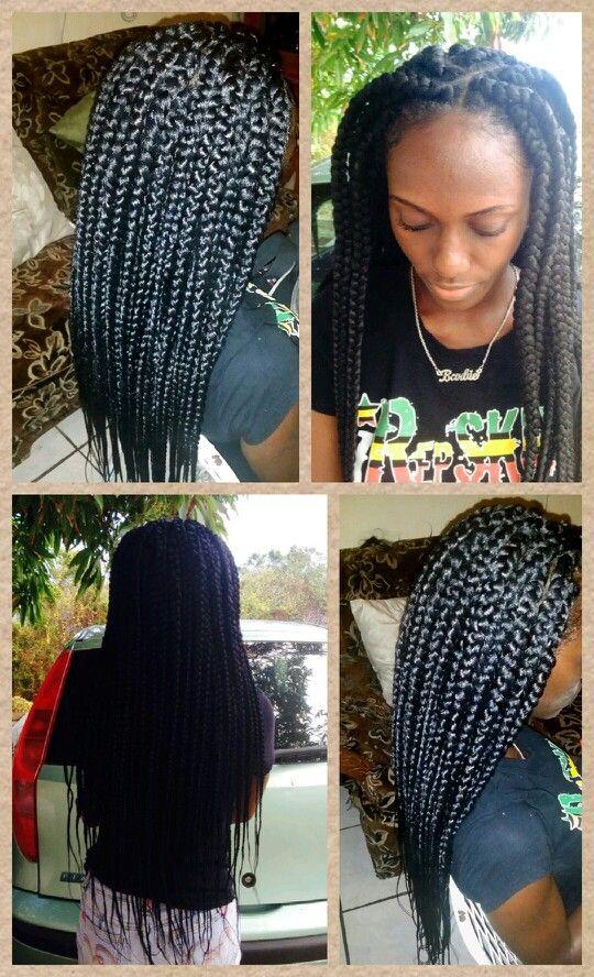 Groovy Jumbo Waist Length Box Braids Hairstyle Ideas N Inspiration Hairstyles For Men Maxibearus