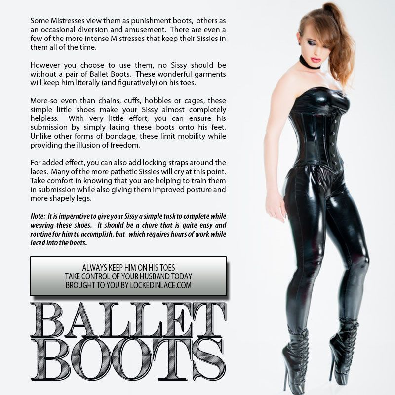 sissy ballet boots