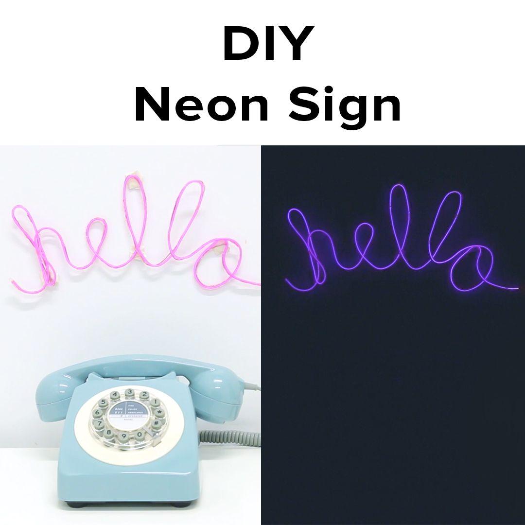 how to make a homemade neon light
