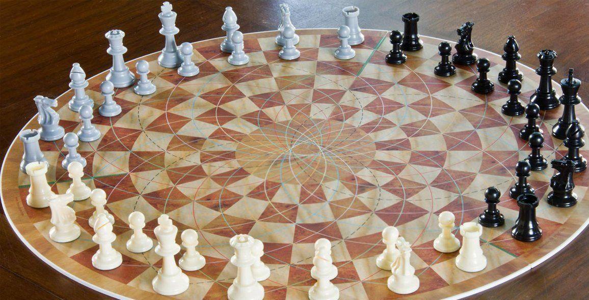 crazy geometric environment at DuckDuckGo Chess, Chess