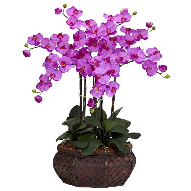 Lifelike Phalaenopsis Orchid Artificial Accent Arrangement