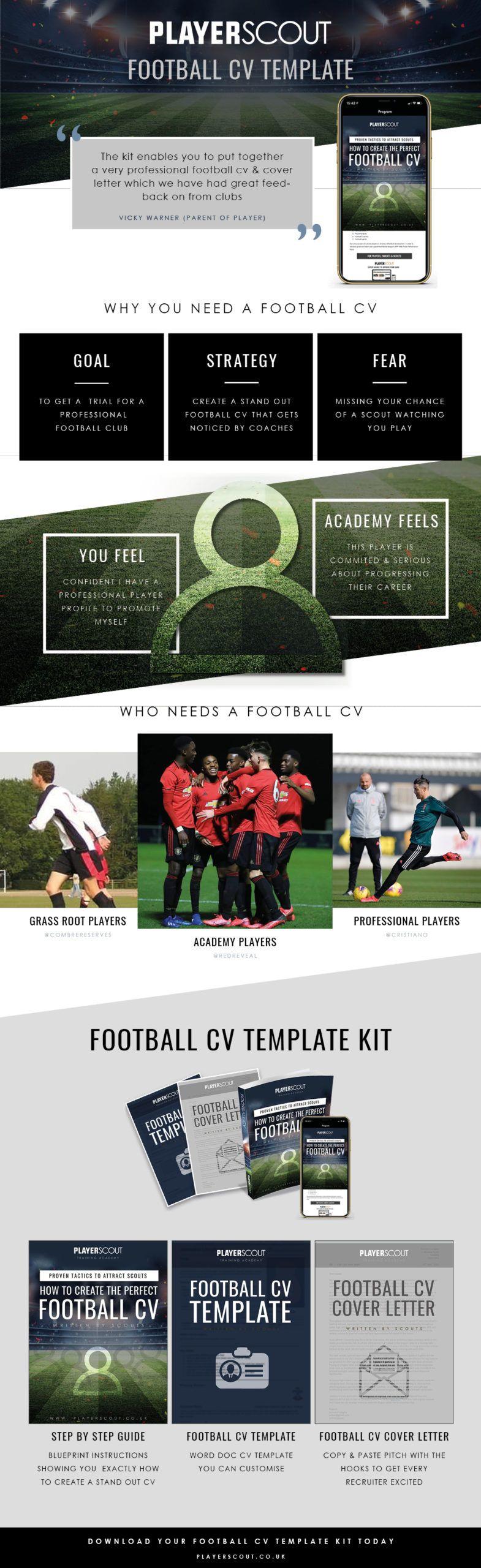 Football Cv How To Write A Football Cv 2020 Template Download Cv Template Education Logo Design Football