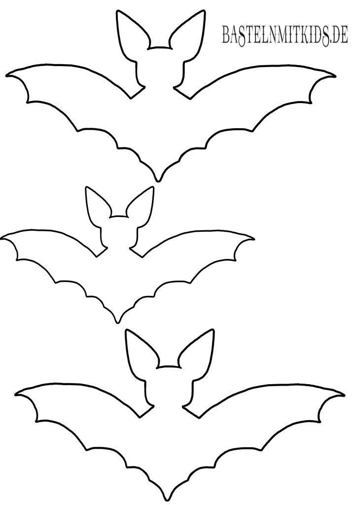 Fledermaus basteln mit Vorlage - Basteln mit Kindern | Fledermaus ...