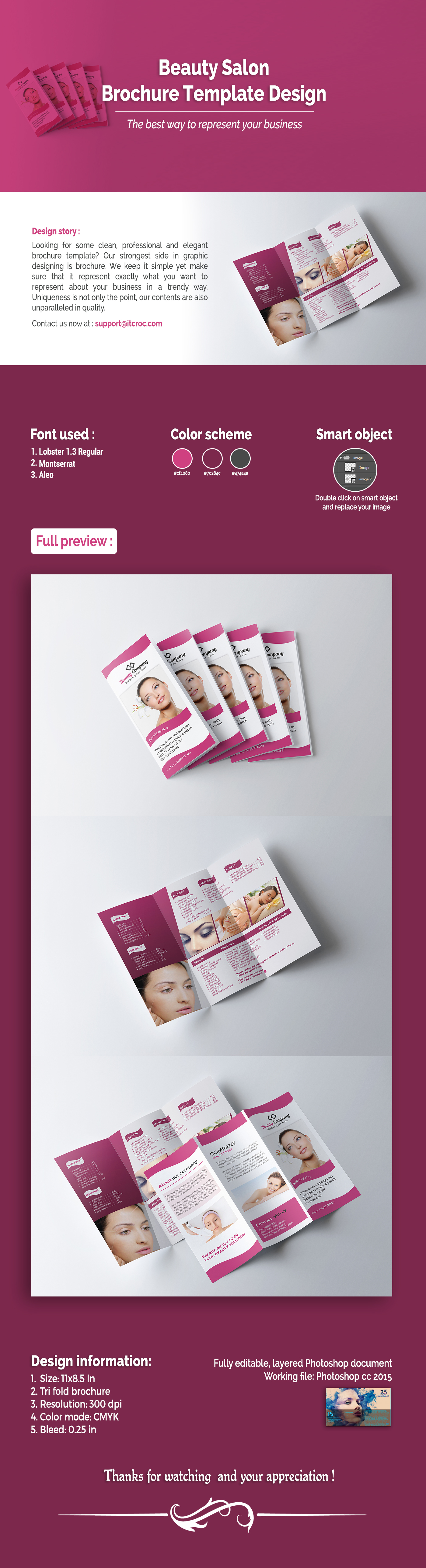 Check Out This Behance Project Salon TriFold Brochure Https