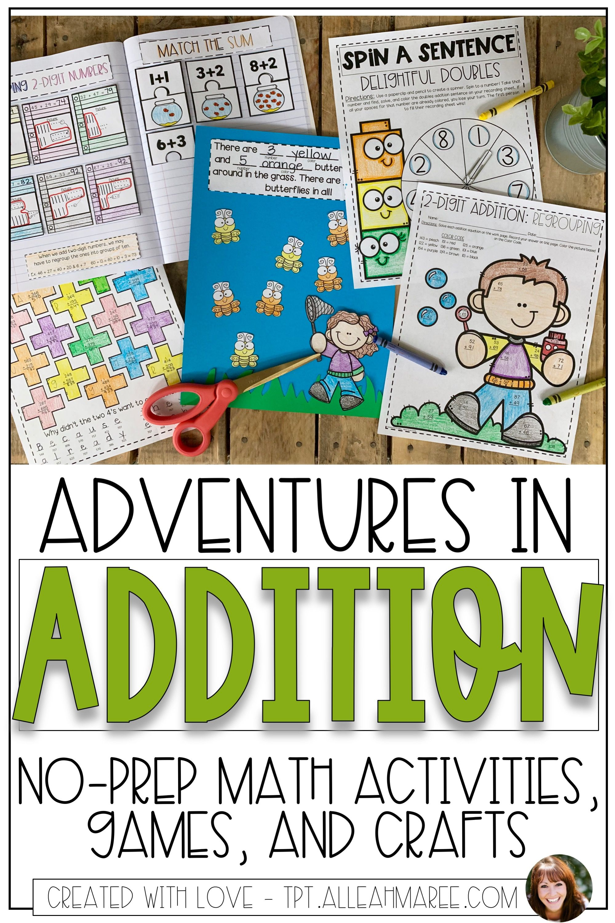 Adventures In Addition Interactive Math Activities With
