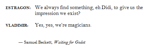 """Image result for beckett and psychiatry quote"""""""
