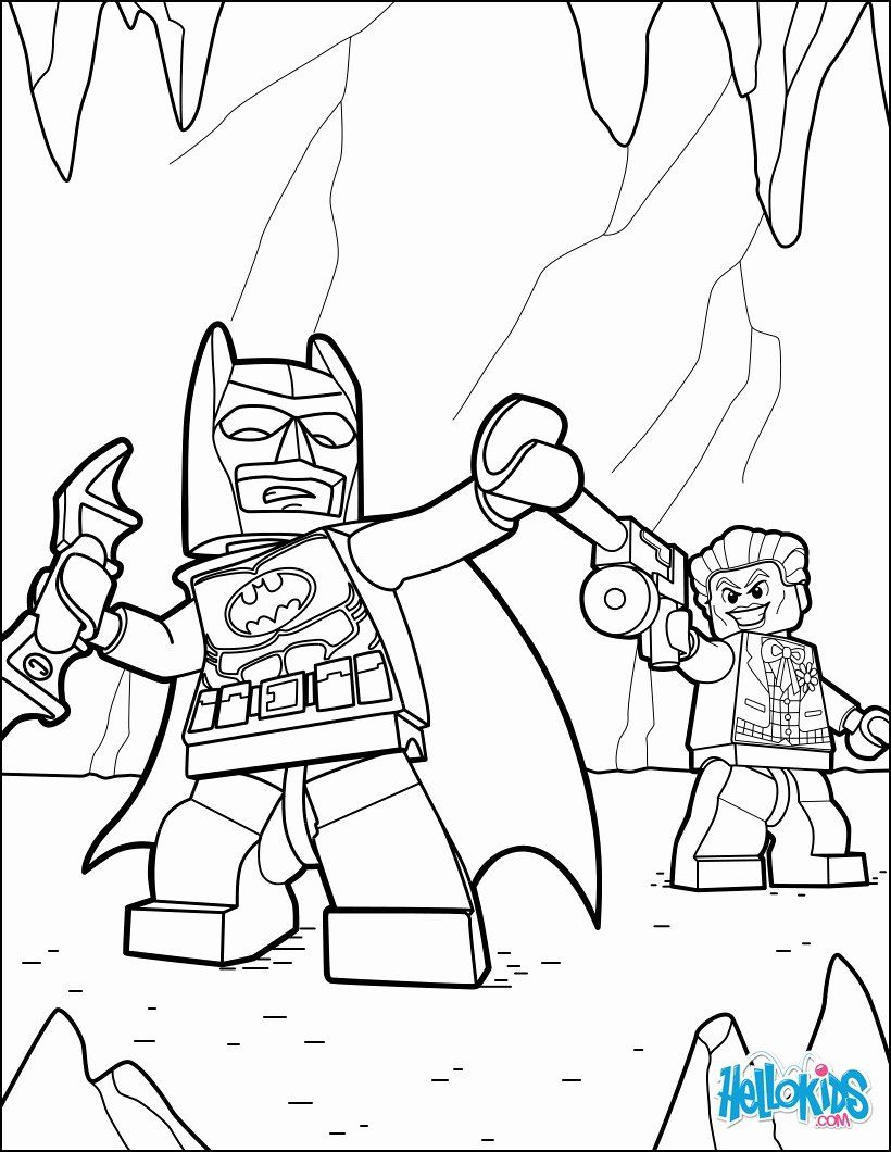 Lego Joker Coloring Page Inspirational Lego Batman and
