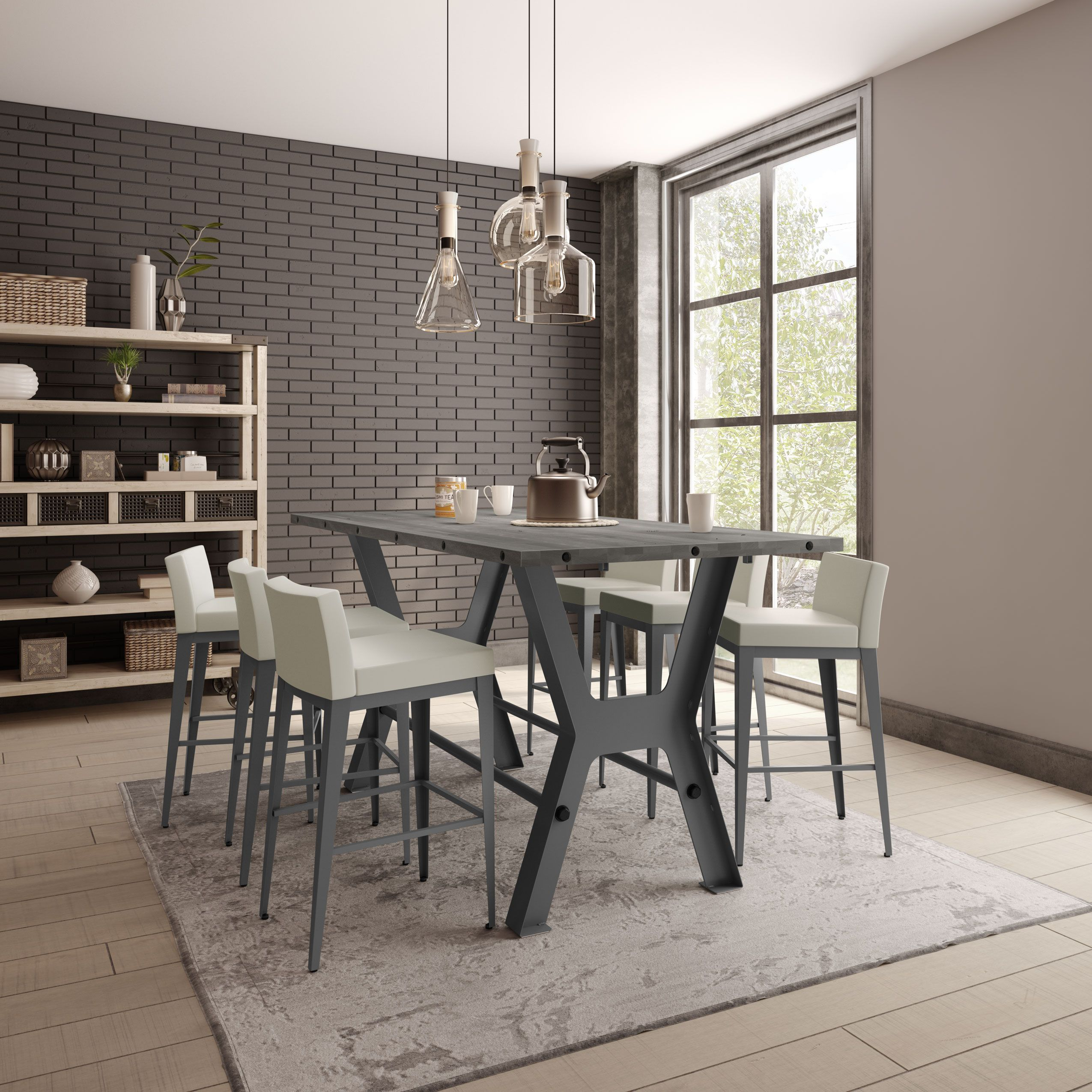 Amisco Parade Pub Table 50565 36 42 Furniture Kitchen Industrial Collection Contemporary Pub Table
