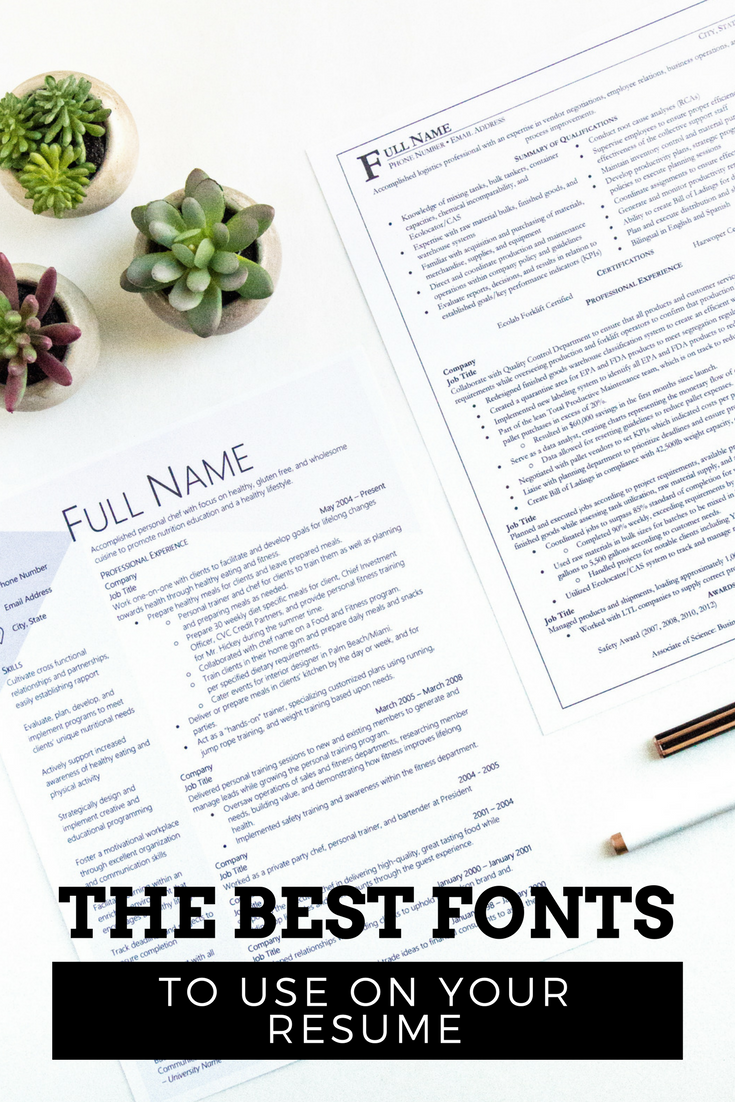 The Best Fonts to Use for Your Resume (With images) Cool
