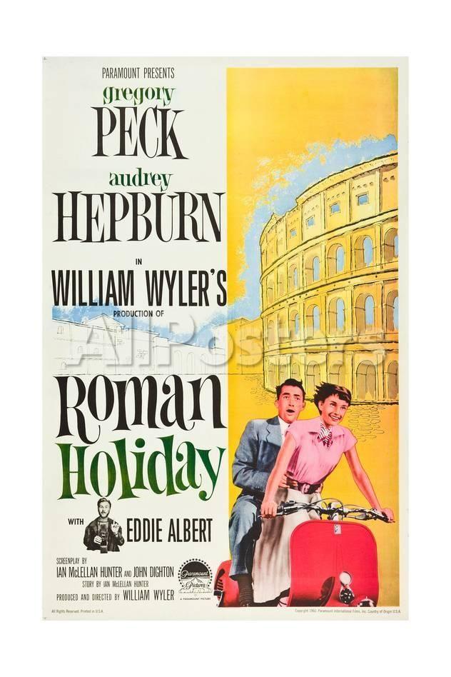 Roman Holiday, Eddie Albert, Gregory Peck, Audrey Hepburn, 1953 ...