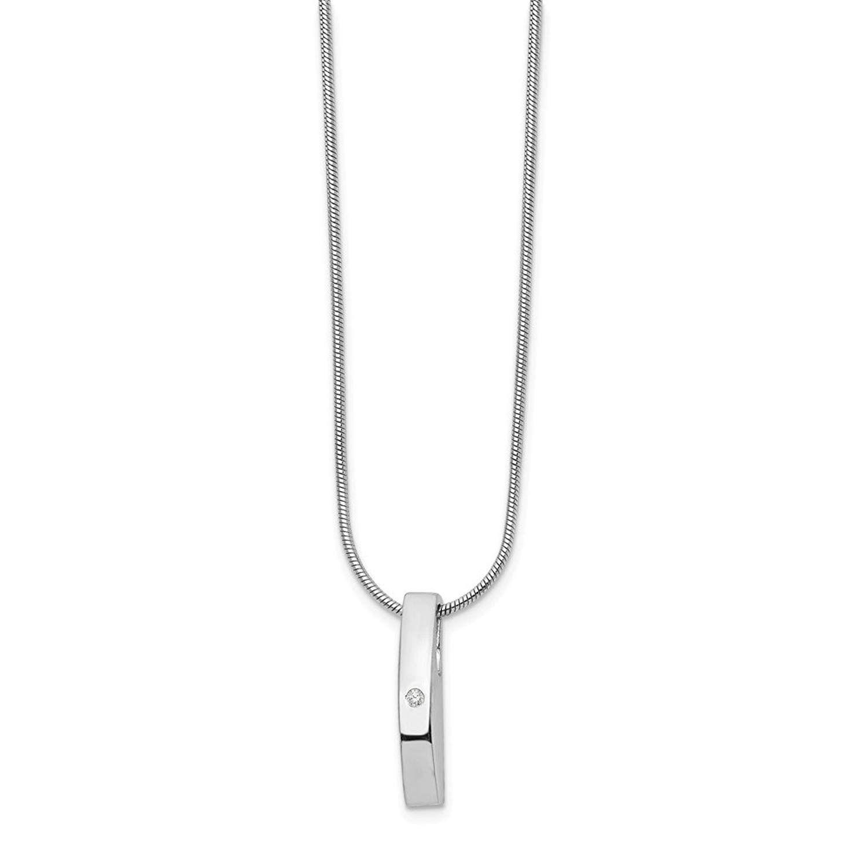 West Coast Jewelry Sterling Silver White Enamel Poodle Pendant