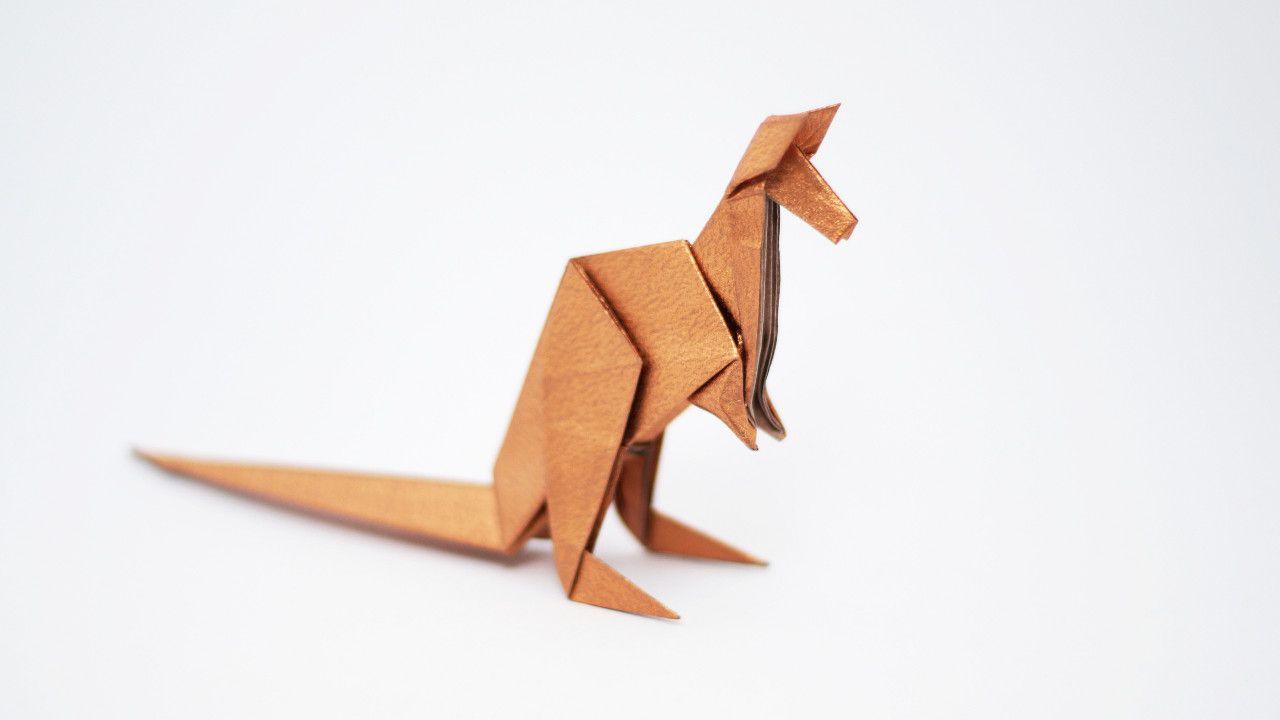 how to make an origami kangaroo designed by jo nakashima