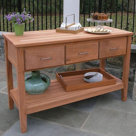 Teak Outdoor Buffet Berwick Tables And Serving Furniture Country Casual