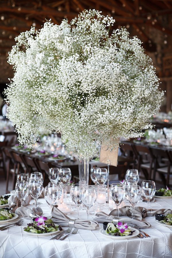 Real Wedding Brianne and Wes, Part 3 Babys breath