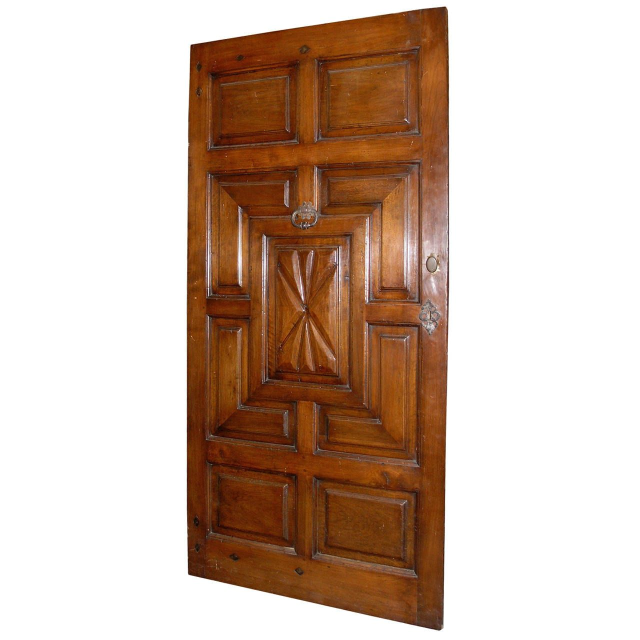 Antique Walnut Entry Door | From a unique collection of antique and modern doors and gates at https://www.1stdibs.com/furniture/building-garden/doors-gates/