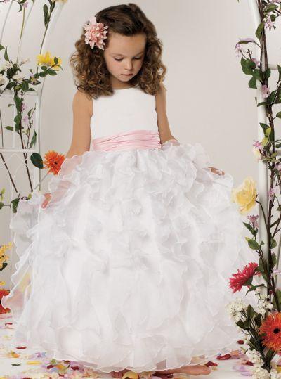 295ad1f84f9 Jordan Sweet Beginnings Organza Ruffle Flower Girl Dress L303 ...