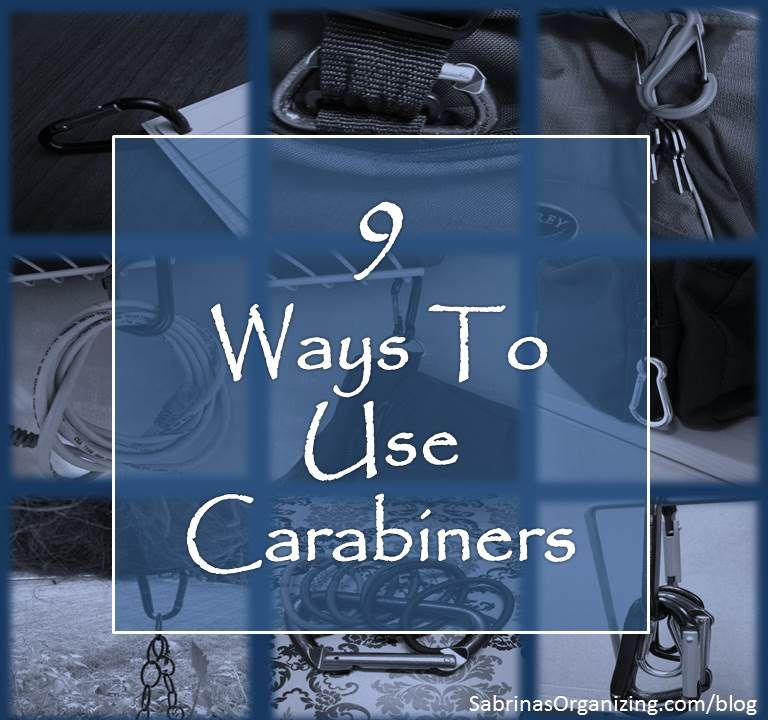 9 Creative Ways To Use Carabiners In The Home Organization