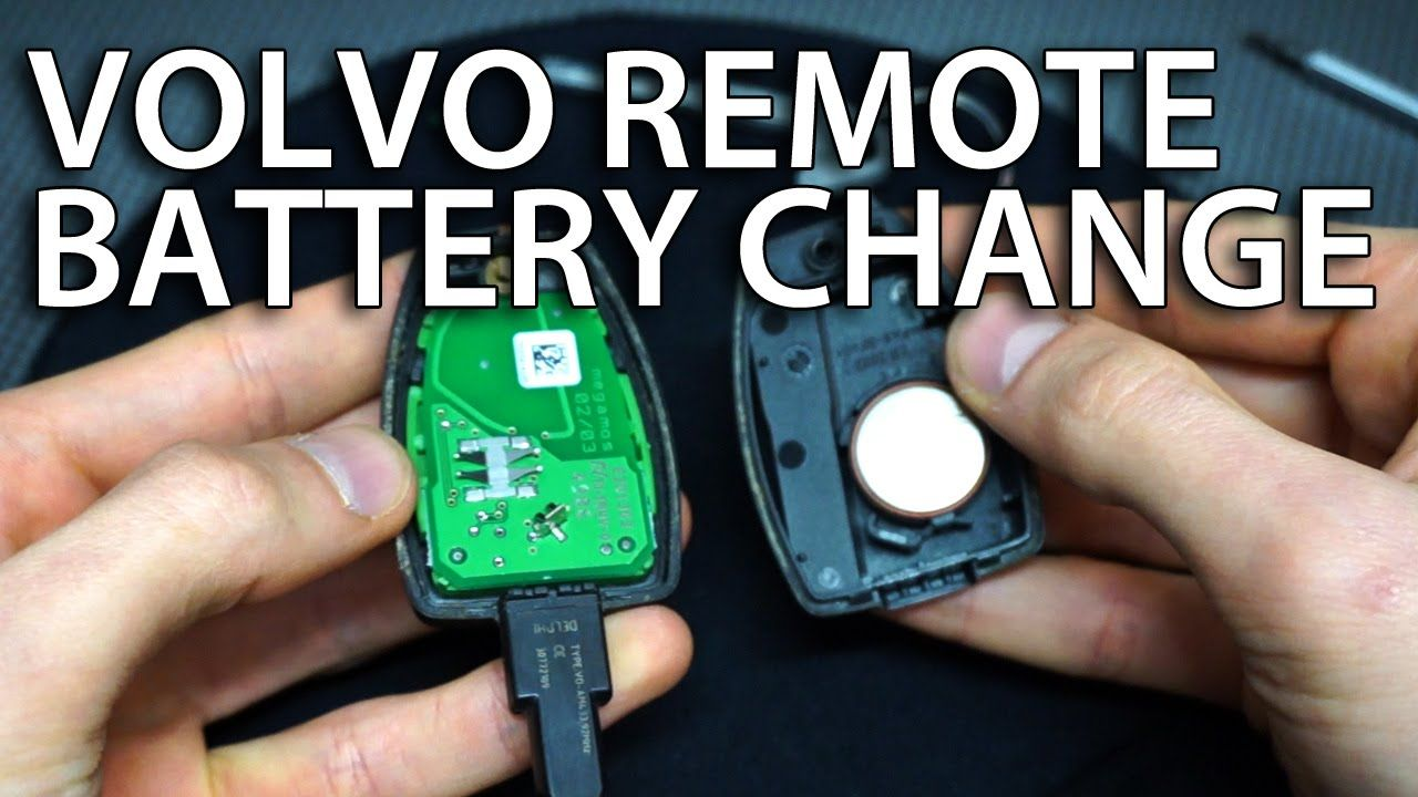 how o change volvo remote battery v50 s40 c30 c70 replace key fob cr2032 [ 1280 x 720 Pixel ]