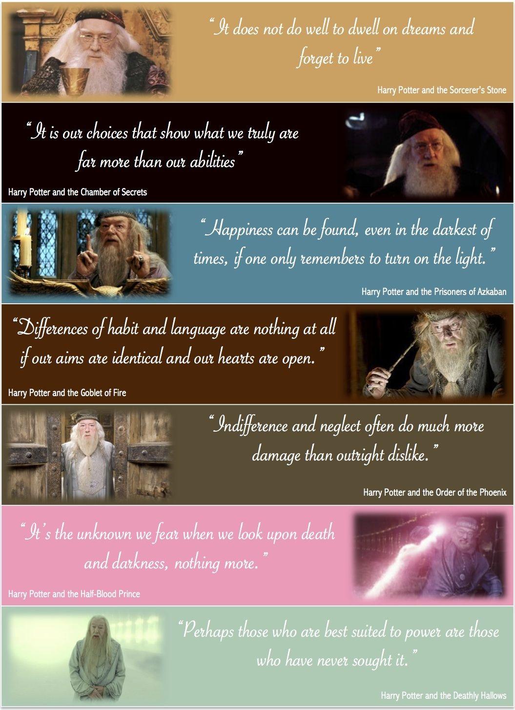 Best Dumbledore Quotes Harry Potter Harry Potter Quotes