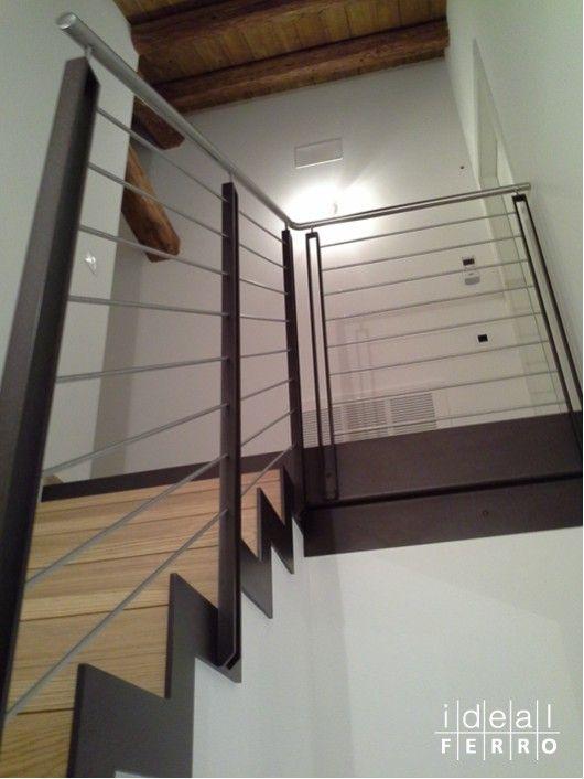 Ringhiera interna in ferro ed acciaio interni pinterest ringhiera acciaio e scala - Scala interna in ferro ...