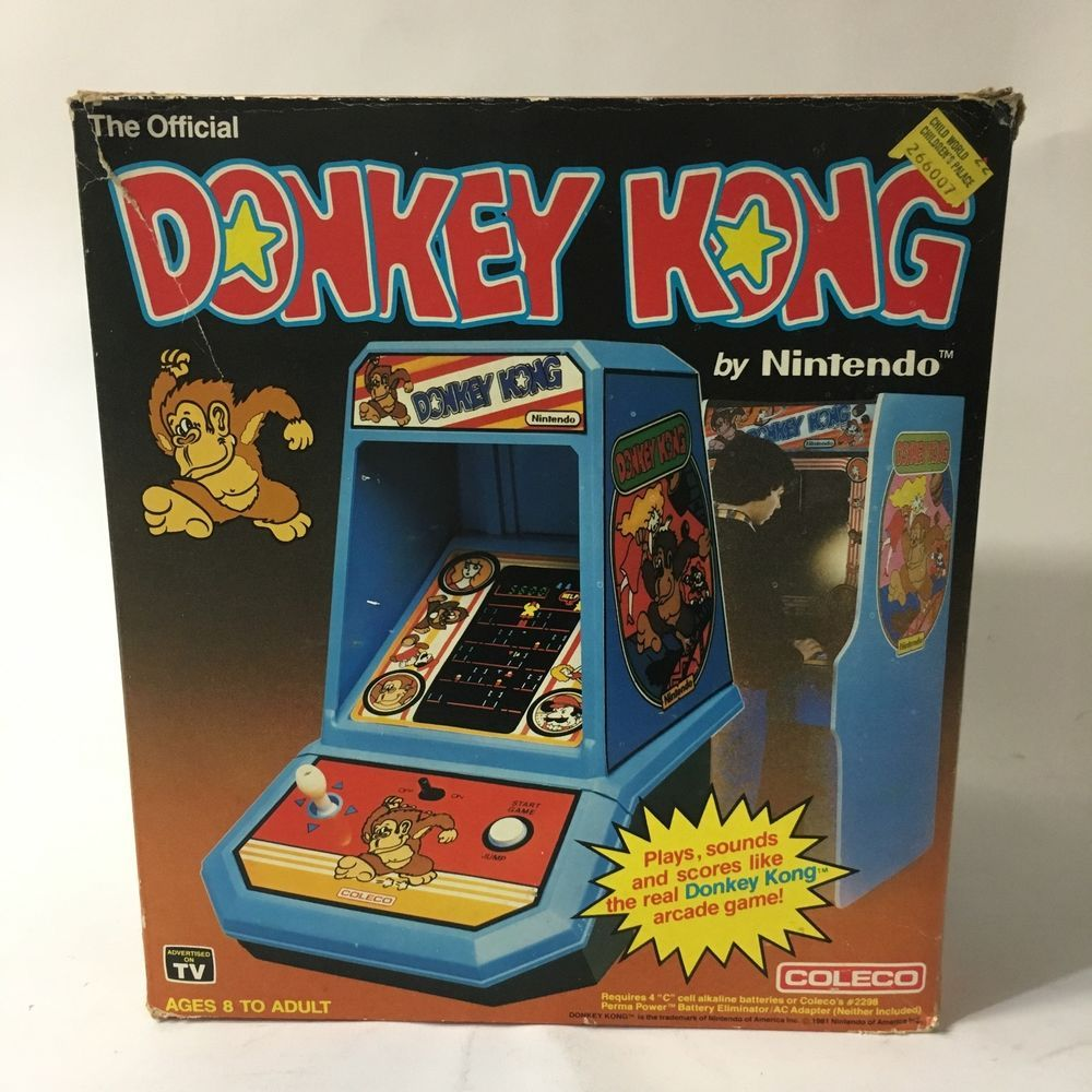 Vintage 1981 Coleco Nintendo Donkey Kong Tabletop Arcade