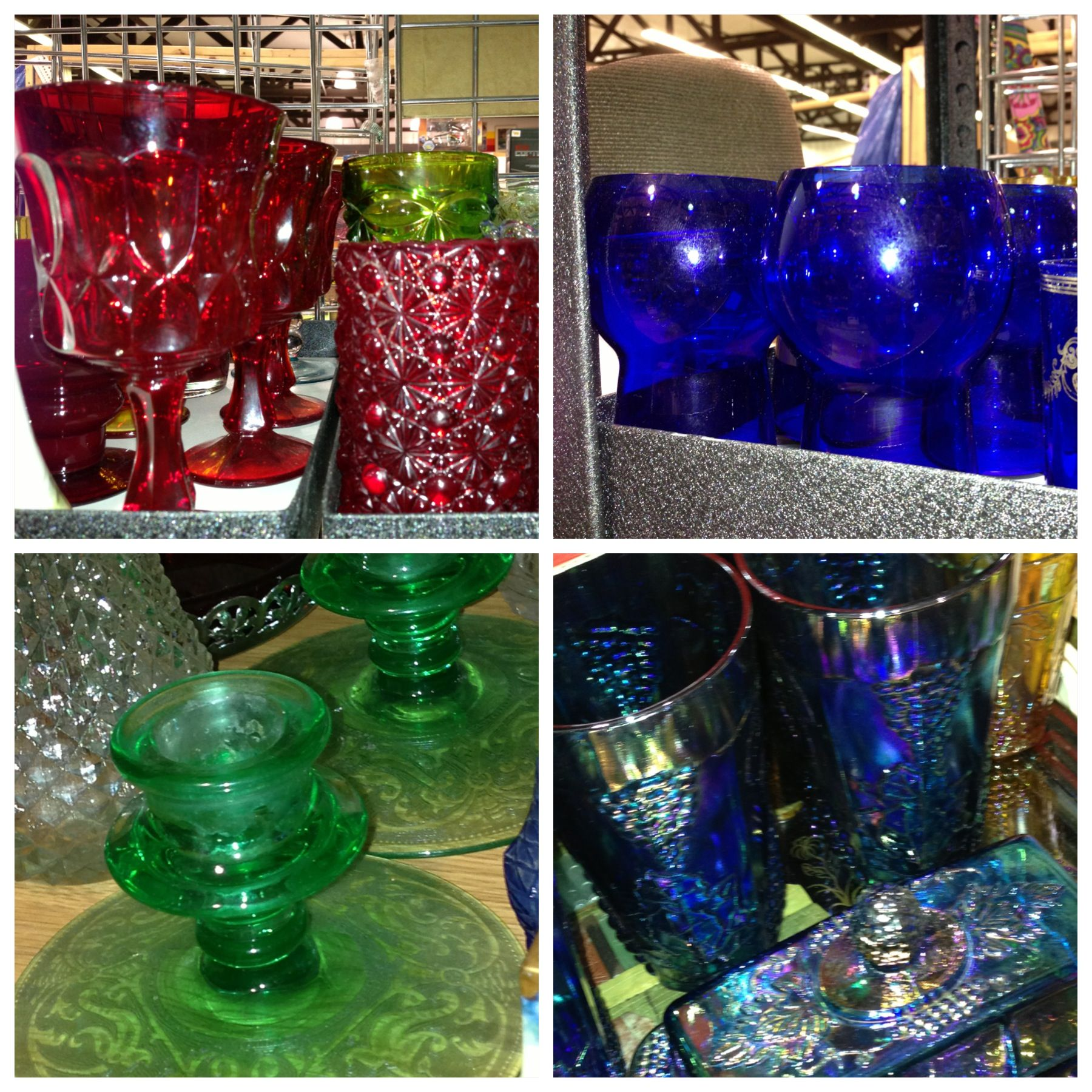 Vintage glassware adds holiday color