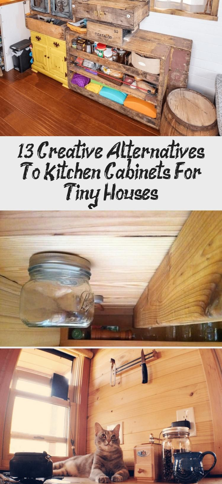 Kitchen Cabinets For Tiny Houses 13 Alternative Designs Tinyhousediycheapdesign In 2020 Tiny House Kitchen Cabinets Cheap Diy