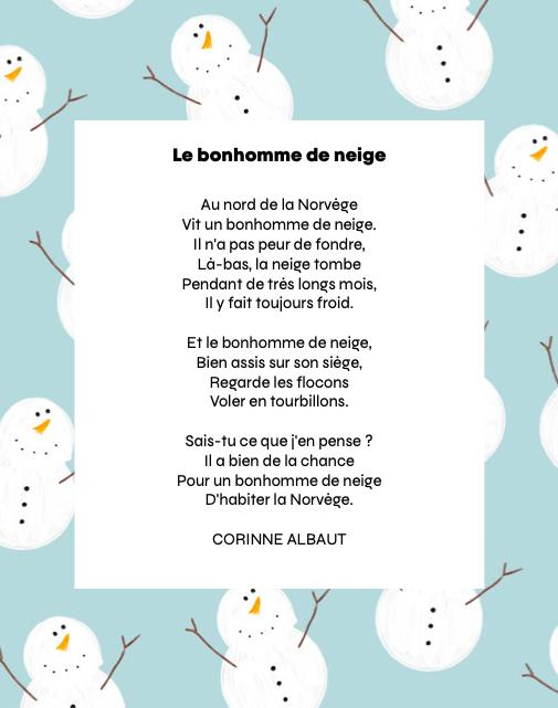 Le bonhomme de neige - Corinne Albaut - CLOPIN - CLOPANT