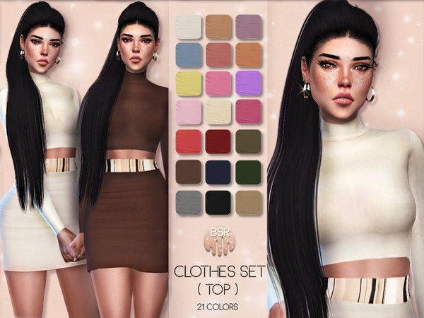 busra-tr's Clothes SET-01 (TOP) BD21   sims 4 cc to test   Sims 4