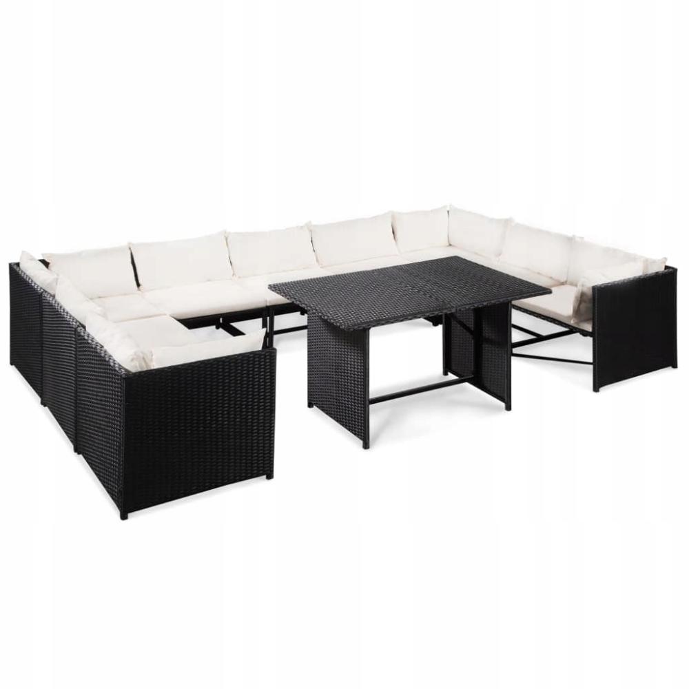 10 Cz Zestaw Mebli Ogrodowych Poduszki Rattan 8581561181 Oficjalne Archiwum Allegro Outdoor Furniture Sets Patio Sofa Set Stylish Seating