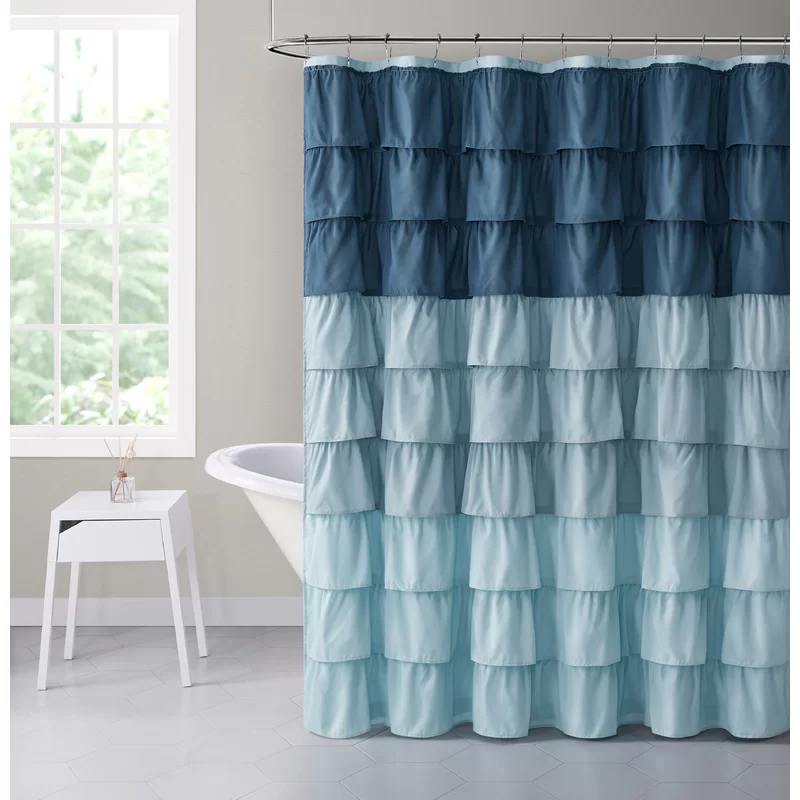 Sandiford Abstract Single Shower Curtain Ruffle Shower Curtains