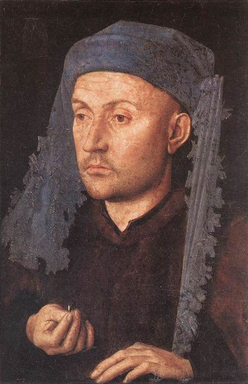 Jan Van Eyck Man In A Blue Turban Portrait Pinterest Turban