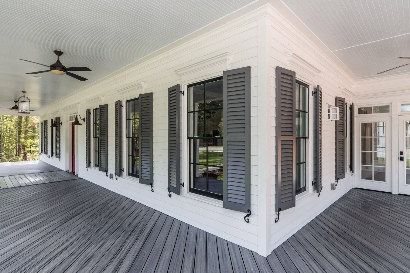 Exterior colors forever home house with porch white - Exterior paint that lasts forever ...