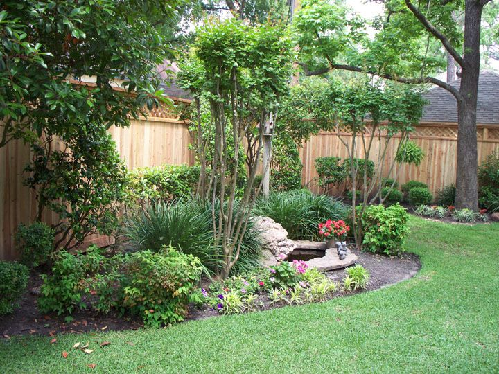 landscaping along privacy fence wood fence residential houston fence company