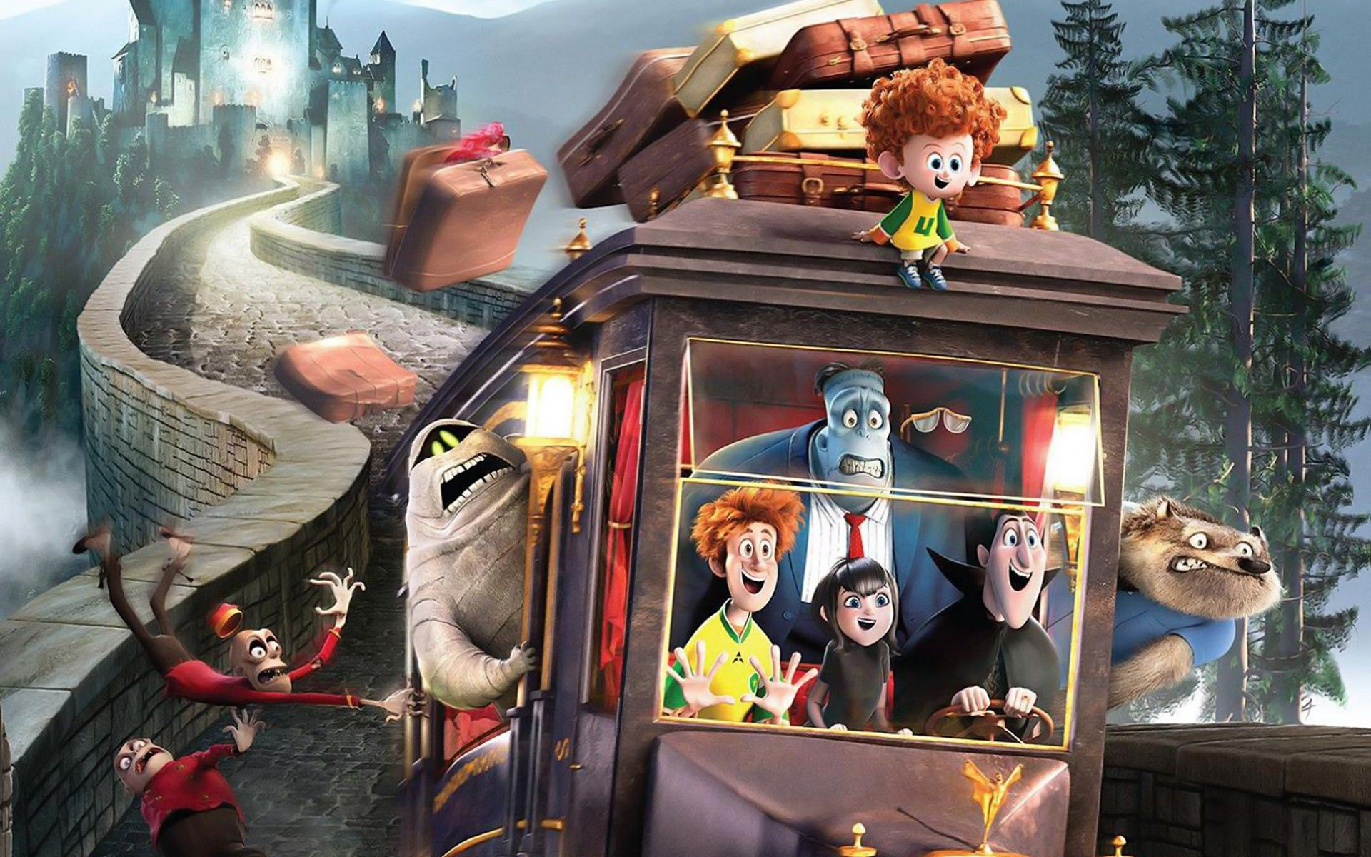 Funny Hotel Transylvania 2 Movie Hd Wallpaper