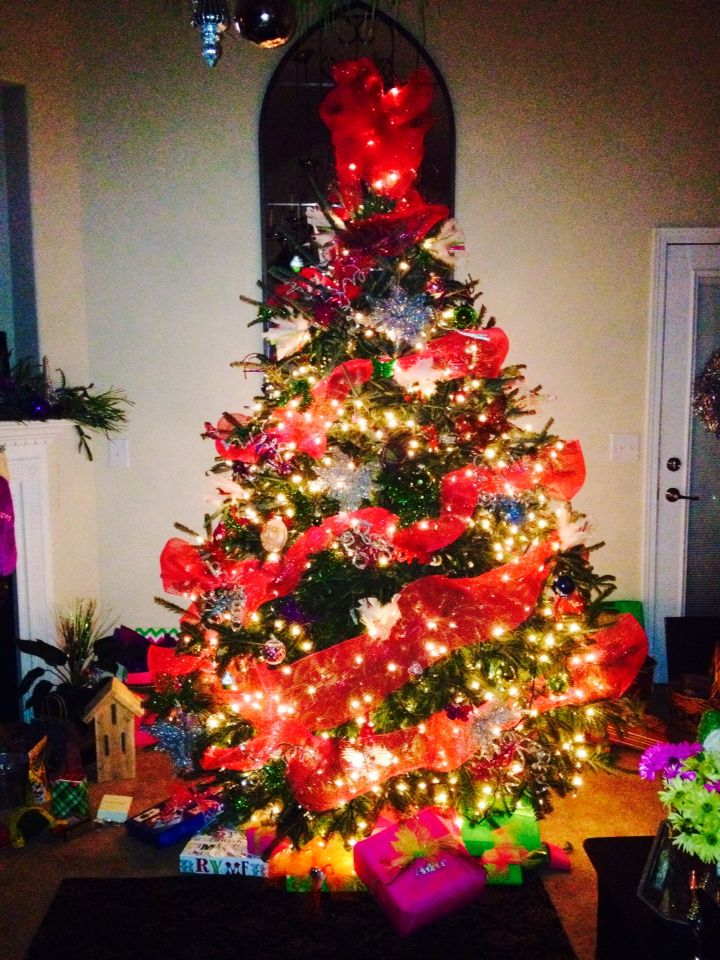 Our multicolored fun Christmas tree! All Things Christmas