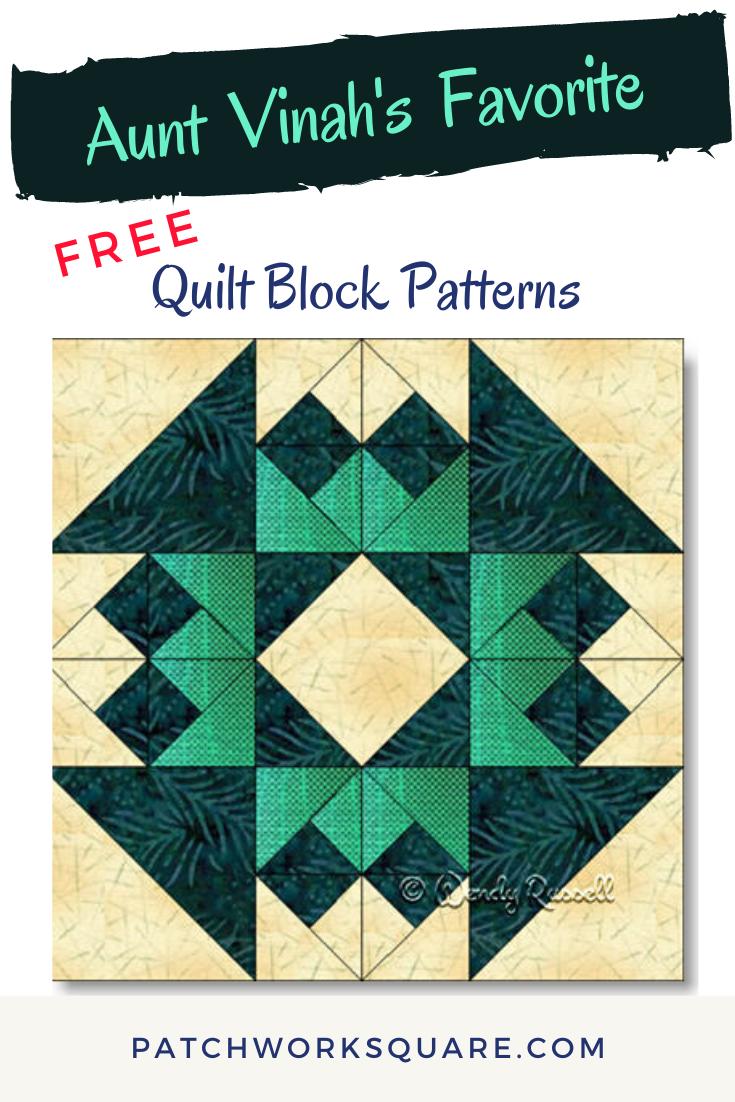 Aunt Vinah's Favorite quilt block