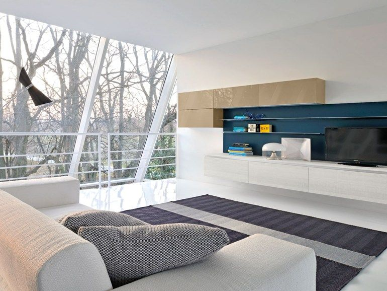 Sectional lacquered storage wall Brava Collection by Cucine Lube ...