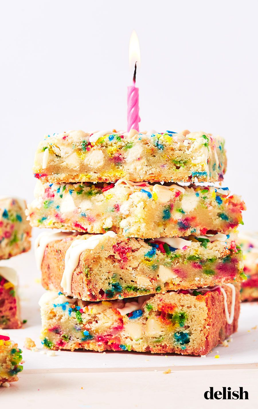 Sensational Birthday Cake Blondies Recipe With Images Desserts Dessert Funny Birthday Cards Online Fluifree Goldxyz