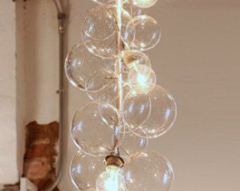 Floating glass bubble chandelier grand tier lamparas pinterest floating glass bubble chandelier grand tier aloadofball Images