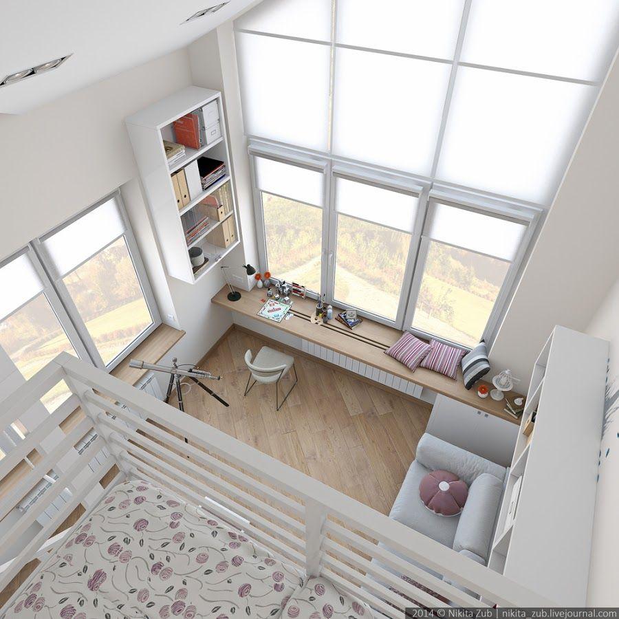 Una habitaci n juvenil de altura tiny p a r a d i s e - Habitacion juvenil nina ...