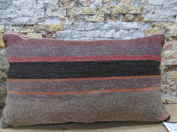 striped turkey pillow anatolian pillow 12x20 anatolian pillow decorative pillow boho pillow kilim cushion bohemian sofa pillow code 155