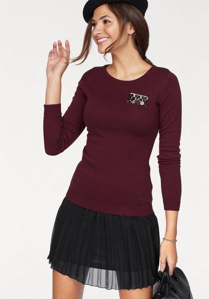 AJC Rundhalspullover mit raffinierten Details | Fashion