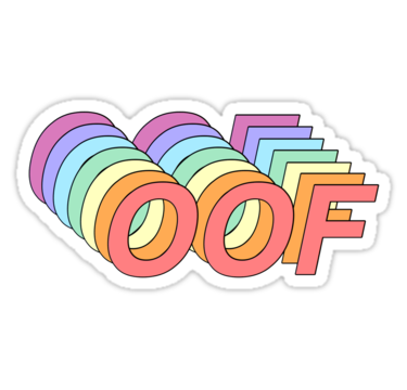 Oof Sticker By Dddaniwilliams Tumblr Stickers Aesthetic Stickers Meme Stickers