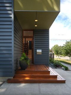 5f3788b0273e Flip Flop House(S) - modern - entry - seattle - by Adams Mohler Ghillino  Architects